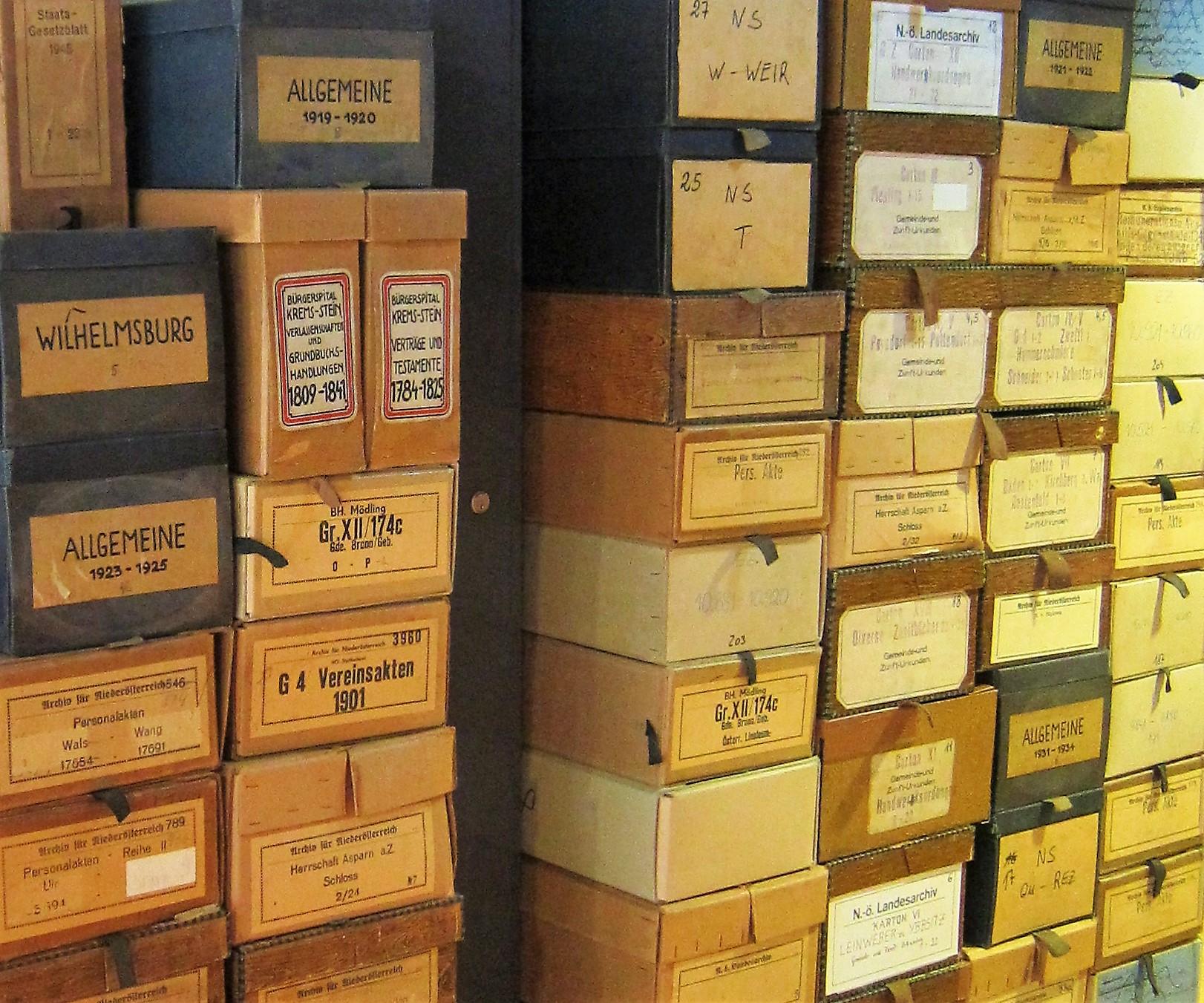 Archiv Inszenierung