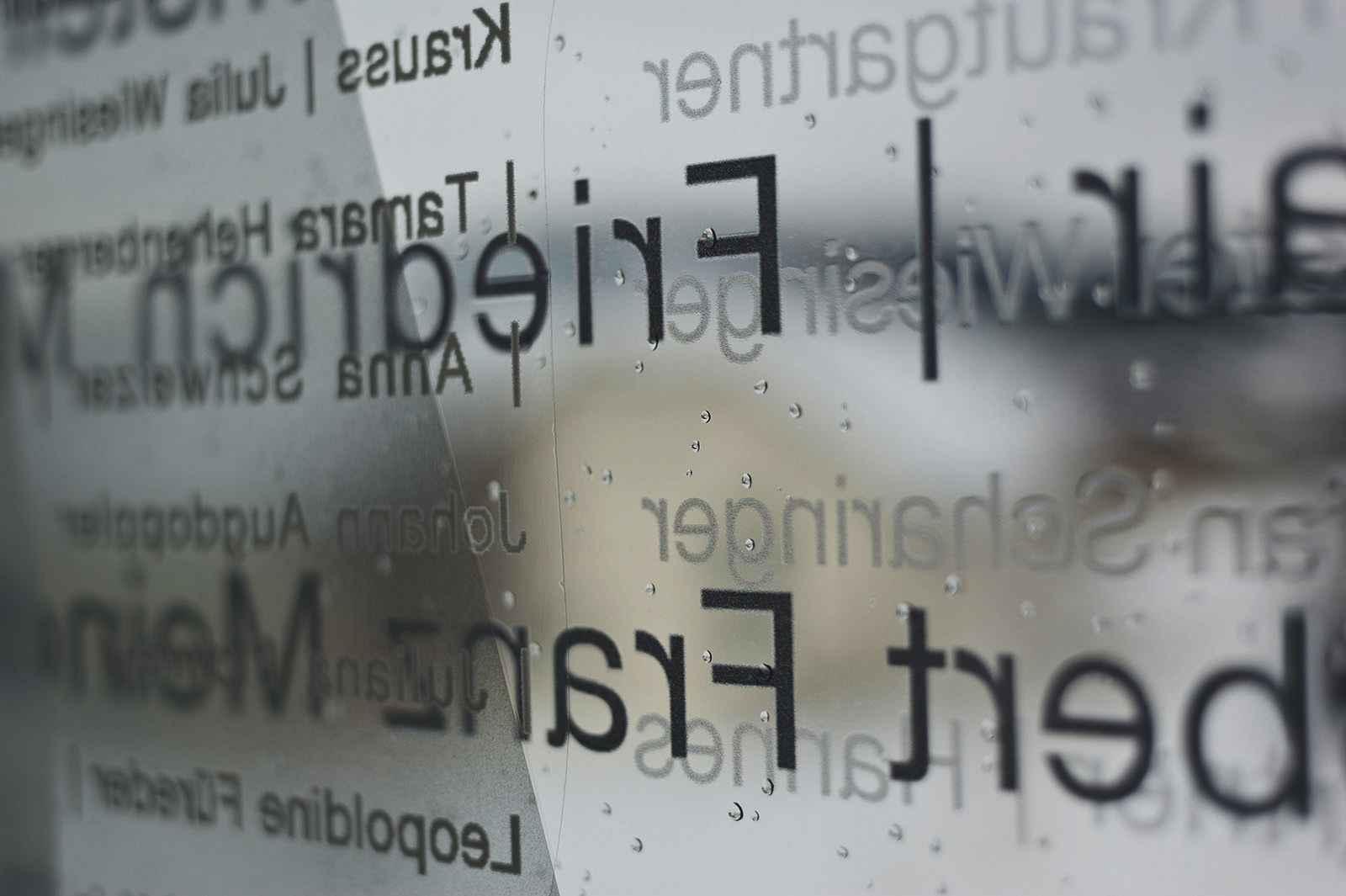 Fassade Schriftdetail