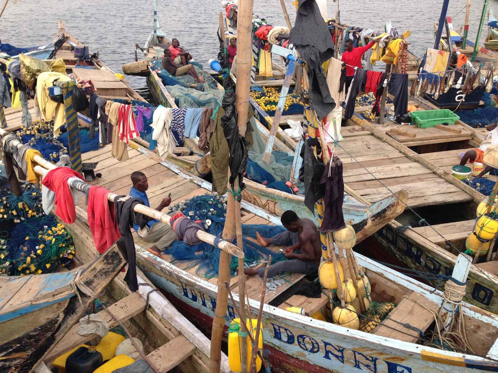 Hafenszene Westafrika