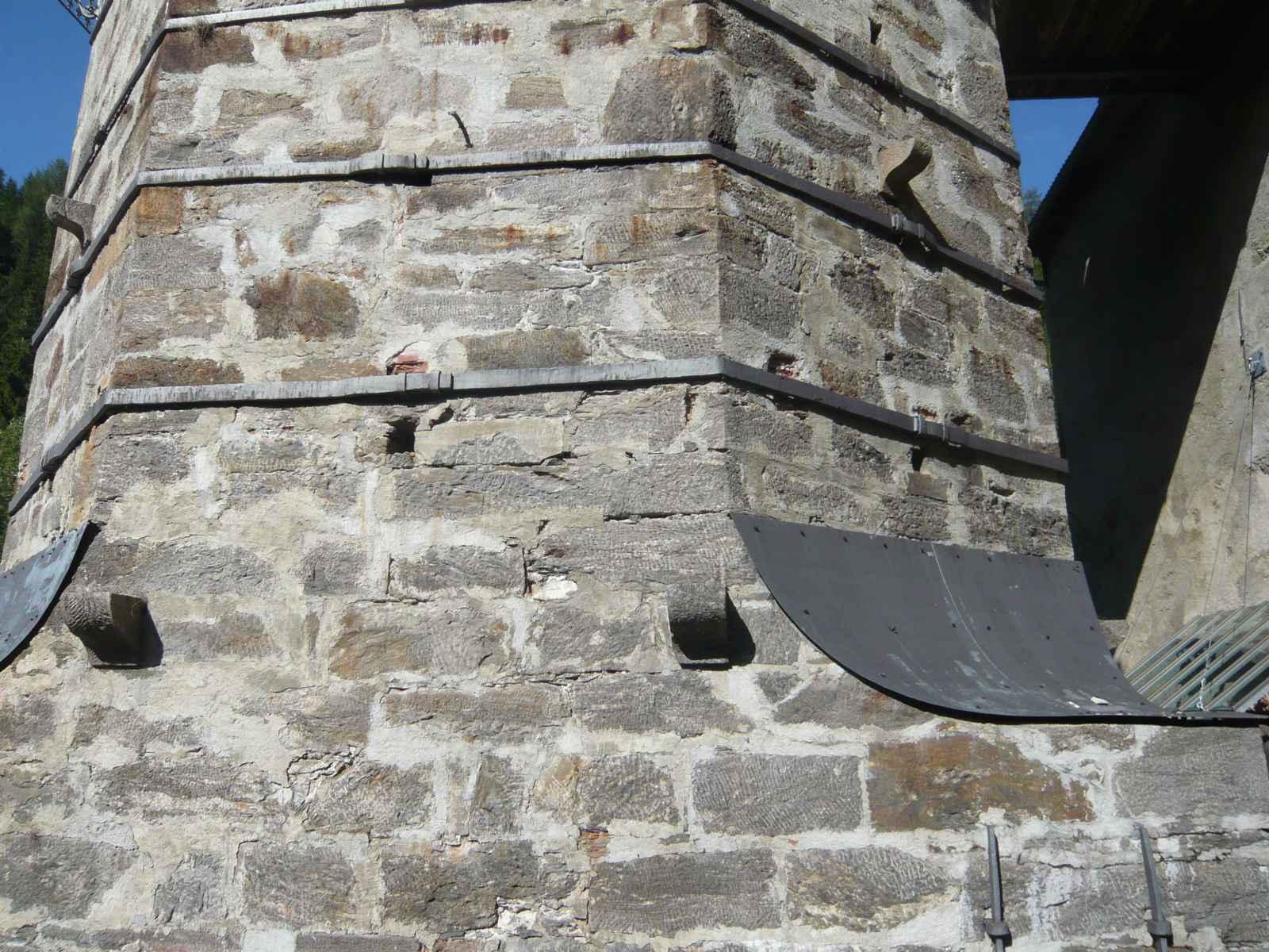 Hochofen Detail Außenmauer