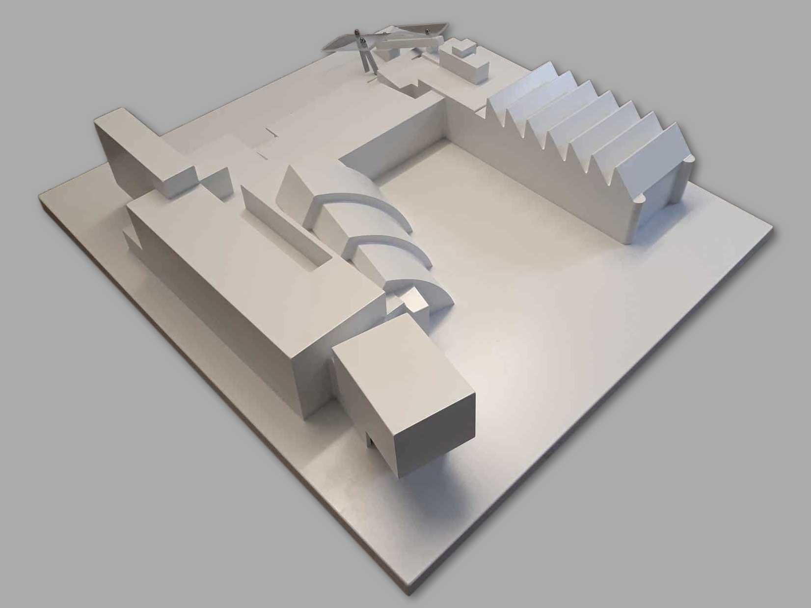 3D Modell Museum NÖ Rückansicht